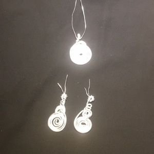 Handmade Earrings and Pendent
